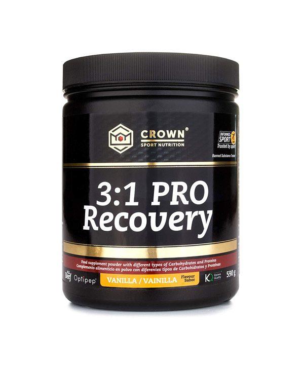 Regenerativni napitek 3:1 PRO z okusom vanilije Crown Sport Nutrition (590 g)