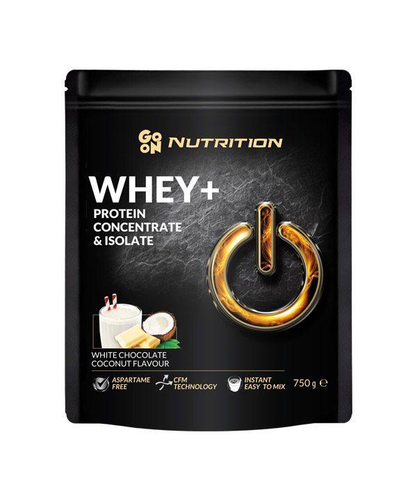 WHEY proteini z okusom bele čokolade in kokosa GO ON Nutrition (750 g)