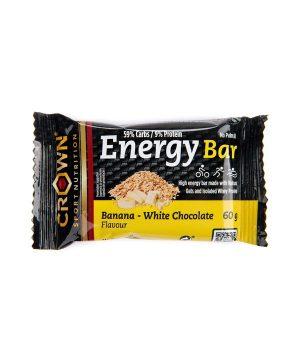 Energijska ploščica z okusom banane in bele čokolade Crown Sport Nutrition (60 g)