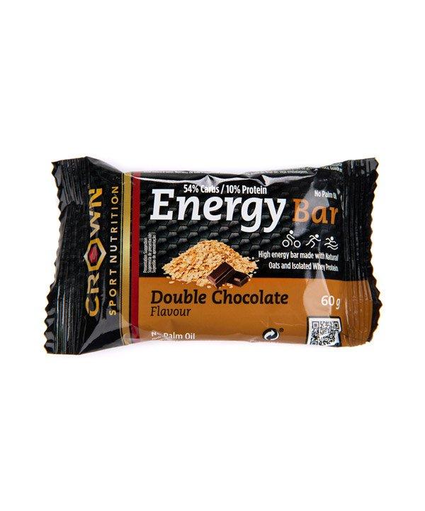 Energijska ploščica z okusom dvojne čokolade Crown Sport Nutrition (60 g)
