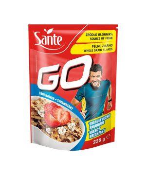 Pšenični kosmiči z jagodami Sante GO (225g)