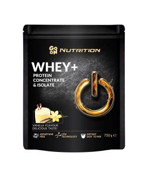 WHEY proteini z okusom vanilije GO ON Nutrition (750g)