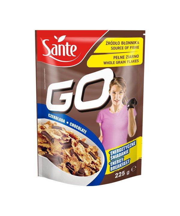 Pšenični kosmiči s čokolado Sante GO (225g)