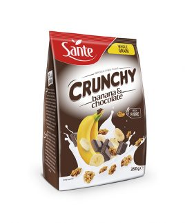 Hrustljavi kosmiči s čokolado in banano Crunchy Sante (350g)