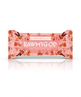 Ploščica češnja in arašidi Raw My God (50 g)