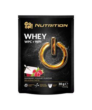 WHEY proteini z okusom maline in jogurta GO ON Nutrition (30g)