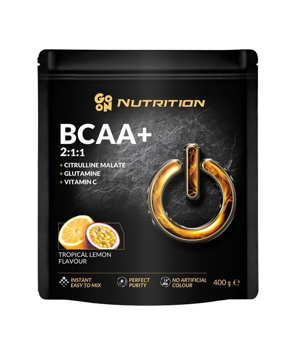 BCAA z okusom tropskih sadežev in limone GO ON Nutrition (400 g)