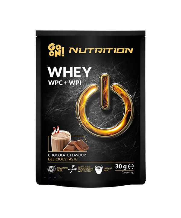 WHEY proteini z okusom čokolade GO ON Nutrition (30g)