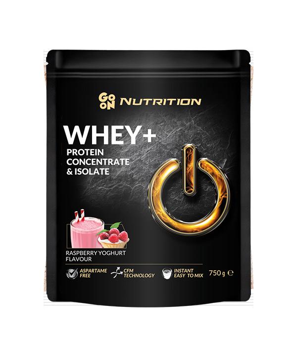 WHEY proteini z okusom maline in jogurta GO ON Nutrition (750g)