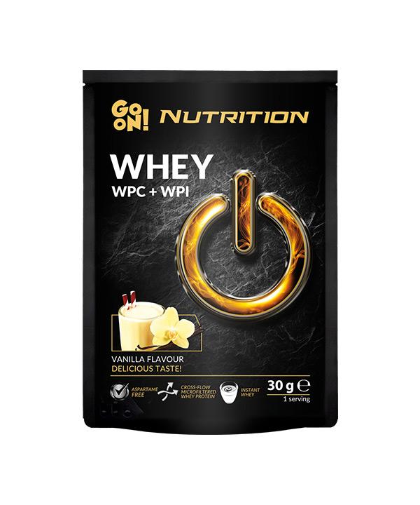 WHEY proteini z okusom vanilije GO ON Nutrition (30g)