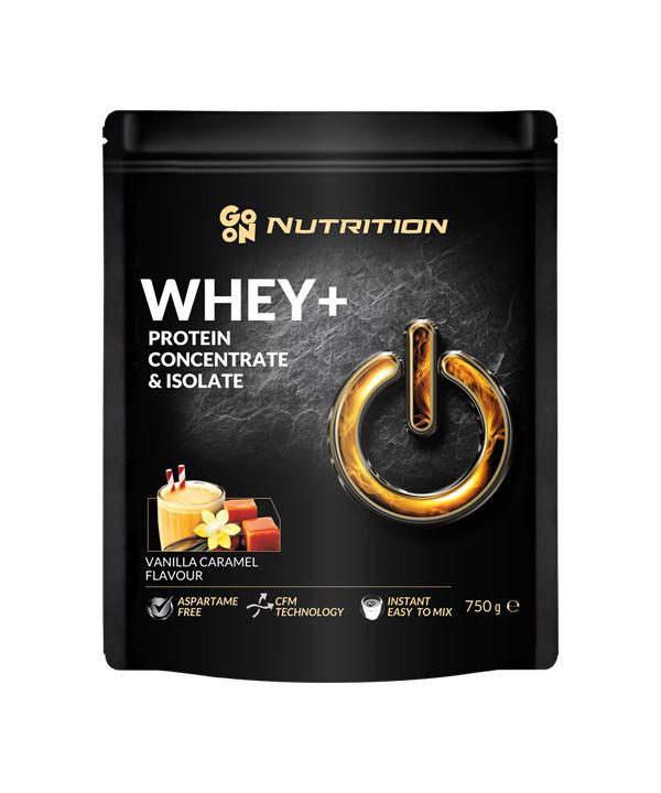 WHEY proteini z okusom vanilije in karamele GO ON Nutrition (750g)
