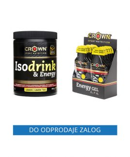 Paket LIMONA Crown Sport Nutrition (izotonični napitek 640g + energijski geli 10 kos)