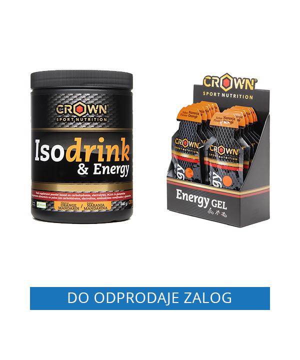 Paket POMARANČA Crown Sport Nutrition (izotonični napitek 640g + energijski geli 10 kos)